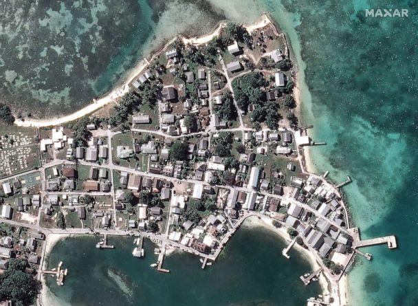 PHOTO: Before Hurricane Dorian struck Green Turtle Cay off Great Abaco Island in a satellite image taken Oct. 25, 2018. (Maxar Technologies via Reuters)