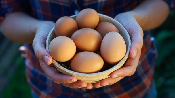 PHOTO: A woman displays a bowl of free range eggs in this undated stock photo. (Getty Images)