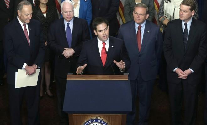 """""""If that issue is injected into this bill, the bill will fail and the coalition that helped put it together will fall apart,"""" says Marco Rubio."""