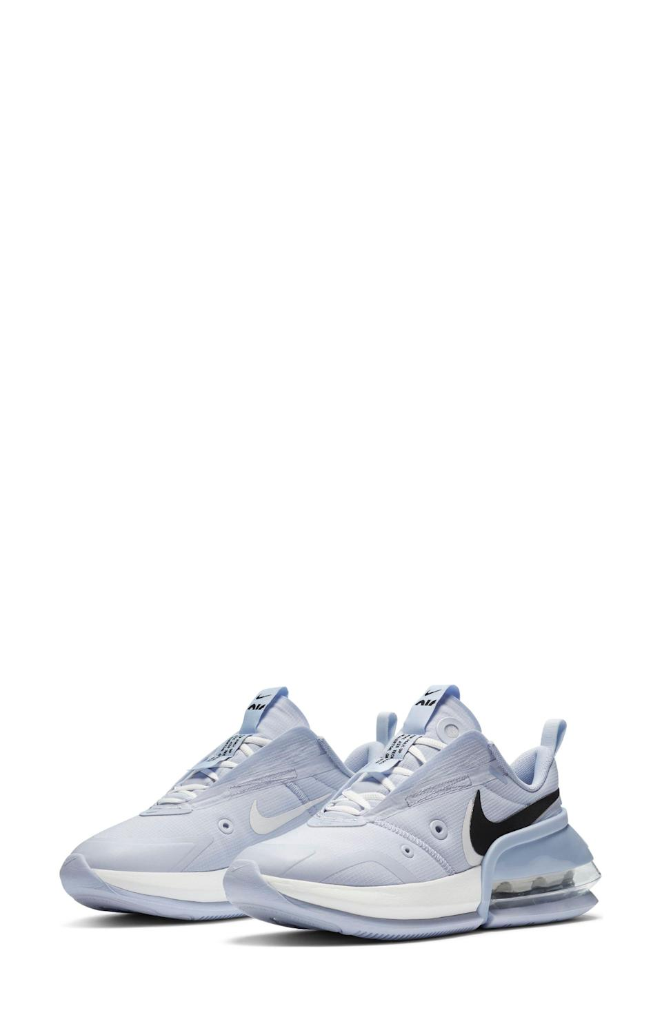 """<p><strong>NIKE</strong></p><p>nordstrom.com</p><p><strong>$87.10</strong></p><p><a href=""""https://go.redirectingat.com?id=74968X1596630&url=https%3A%2F%2Fwww.nordstrom.com%2Fs%2Fnike-air-max-up-sneaker-women%2F5831593&sref=https%3A%2F%2Fwww.marieclaire.com%2Ffashion%2Fg35090742%2Fnordstrom-half-yearly-sale-2020%2F"""" rel=""""nofollow noopener"""" target=""""_blank"""" data-ylk=""""slk:Shop Now"""" class=""""link rapid-noclick-resp"""">Shop Now</a></p>"""