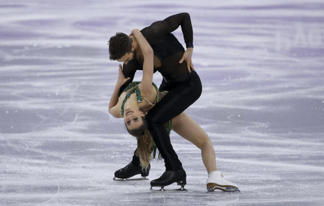 <p><strong>THE BAD</strong><br>Wardrobe malfunctions:<br>French ice dancer Gabriella Papadakis suffered a wardrobe malfunction during a routine with Guillaume Cizeron at the Winter Olympics in PyeongChang. (Getty images) </p>