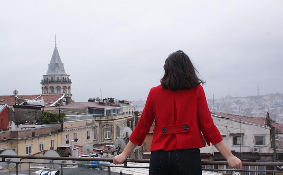 Rana, not her real name, pictured in Istanbul, Turkey, after a 'quest' to leave her politically unstable home country, Lebanon, during CovidRana