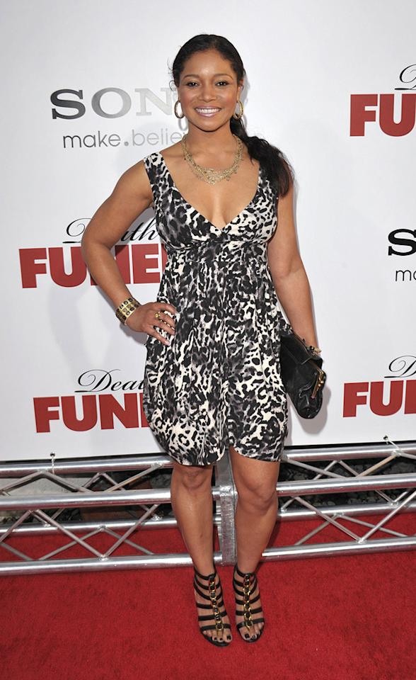"""<a href=""""http://movies.yahoo.com/movie/contributor/1800275005"""">Tamala Jones</a> at the Los Angeles premiere of <a href=""""http://movies.yahoo.com/movie/1810077967/info"""">Death at a Funeral</a> - 04/12/2010"""