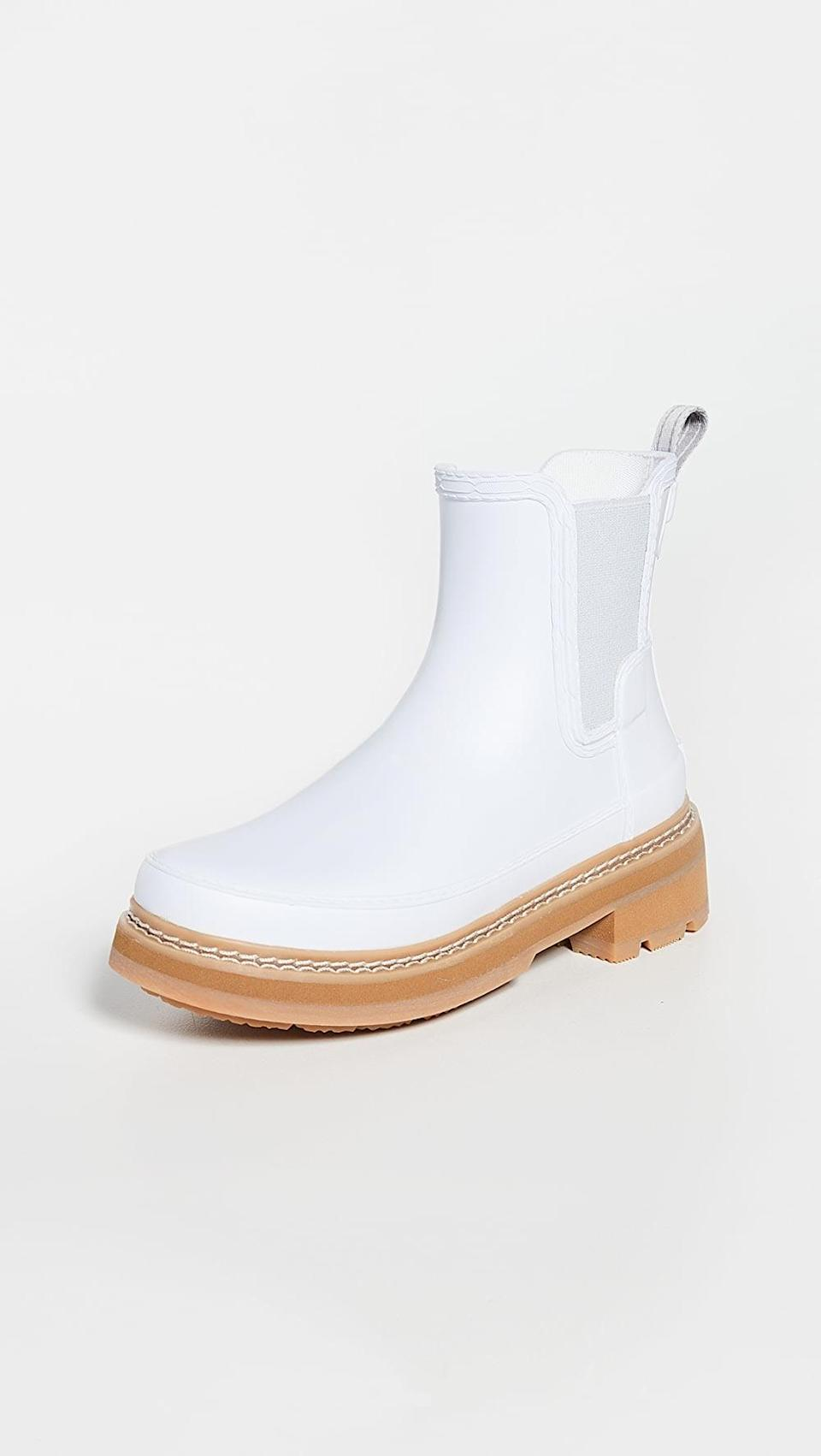 <p>These <span>Hunter Boots Refined Chelsea Stitch Detail Wellington Boots</span> ($175) are so cool, and perfect for rainy Pisces weather.</p>