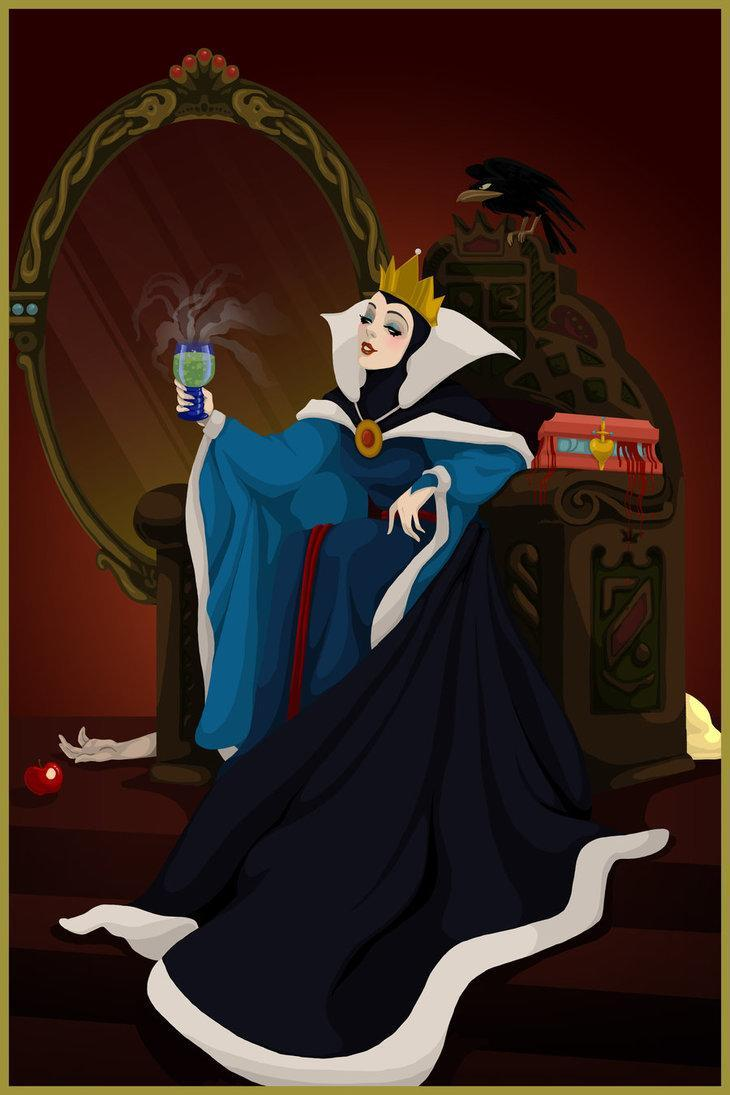 """<div class=""""caption-credit"""">Photo by: Justin Turrentine/DeviantArt.com</div><div class=""""caption-title"""">Snow White</div>The Evil Queen toasts herself with a magic potion, a box dripping blood resting beside her. Is that Snow White's body tucked behind her throne? <br>"""