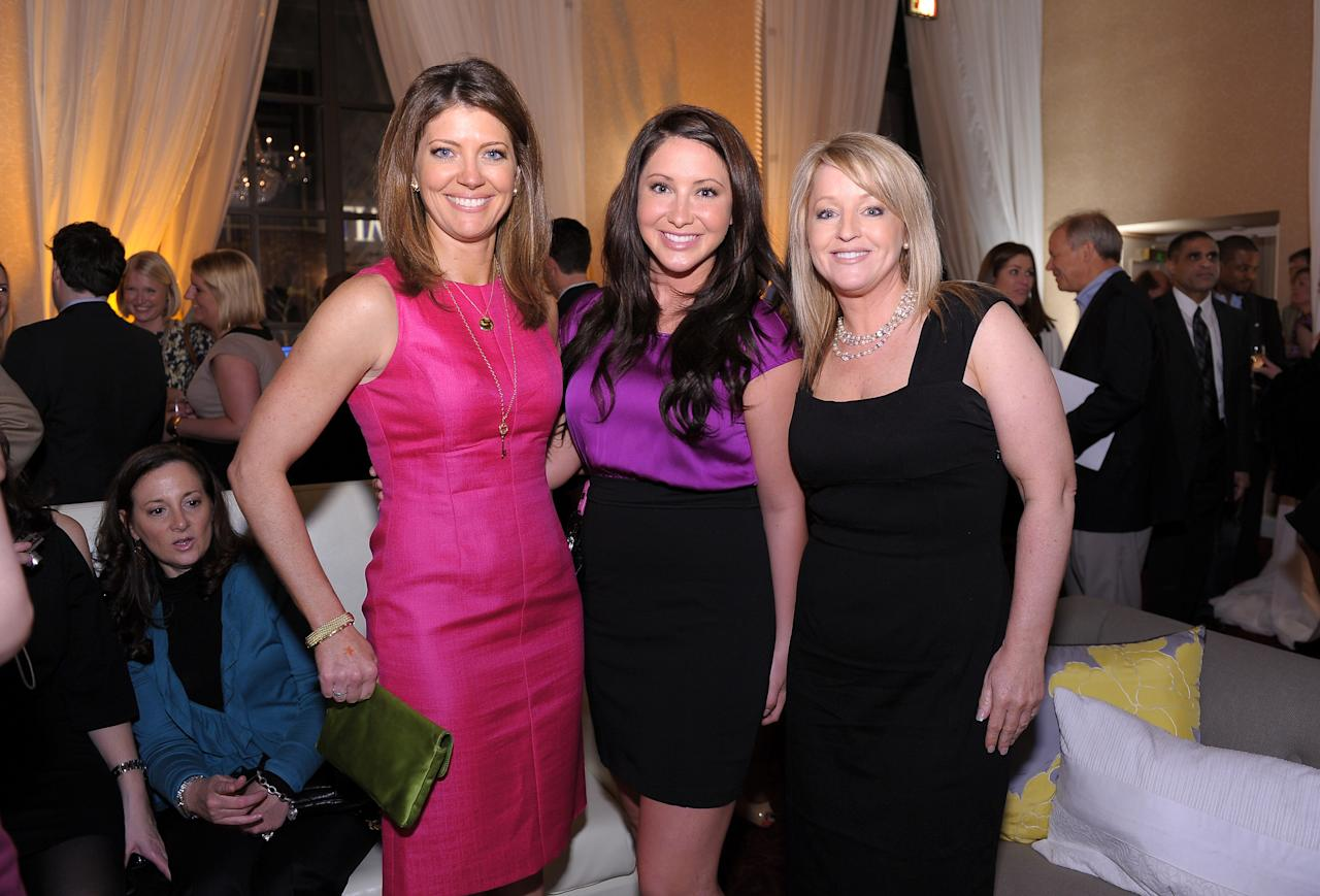 WASHINGTON, DC - APRIL 29: (L-R) Norah O'Donnell, Bristol Palin and Molly McCann attend the People/TIME White House Correspondents' dinner cocktail party at the St. Regis Hotel on April 29, 2011 in Washington, DC.  (Photo by Michael Loccisano/Getty Images for TIME)