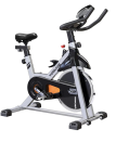 "<p><strong>Yosuda</strong></p><p>amazon.com</p><p><strong>$319.99</strong></p><p><a href=""https://www.amazon.com/YOSUDA-Indoor-Cycling-Bike-Stationary/dp/B07D528W98?tag=syn-yahoo-20&ascsubtag=%5Bartid%7C10055.g.35852402%5Bsrc%7Cyahoo-us"" rel=""nofollow noopener"" target=""_blank"" data-ylk=""slk:Shop Now"" class=""link rapid-noclick-resp"">Shop Now</a></p><p>Reviewers rave about this affordable stationary bike choice that features a tablet holder and LCD monitor that tracks time, speed, distance, calories burned, and odometer. <strong>With over 10,400 ratings and an overall 4.4/5 star score, reviewers say that the bike is well-built and fairly easy to assemble. </strong>Many customers stream cycling classes from other platforms or YouTube on their tablets while riding this bike at home.</p><p><strong>D</strong><strong>imensions:</strong> 40.16"" x 21.65"" x 46.06""</p><p><strong>Weight Limit: </strong>270lbs</p><p><strong><strong>Digital Monitor:</strong></strong> Yes, small LCD metrics monitor</p><p><strong>Pedals: </strong>Cages for standard exercise shoes, while clip pedals can be purchased separately</p><p><strong>Additional Costs:</strong> None</p>"