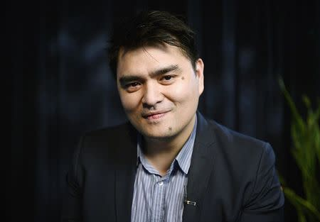 """Journalist and director of film """"Documented"""", Jose Antonio Vargas, poses for a photograph in Los Angeles, Californa"""