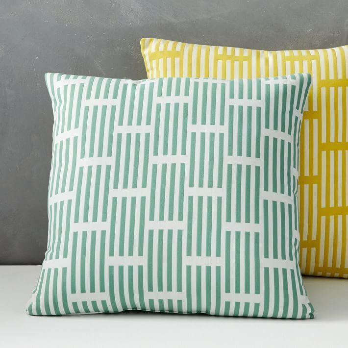"""<p><strong>West Elm </strong></p><p>westelm.com</p><p><a href=""""https://go.redirectingat.com?id=74968X1596630&url=https%3A%2F%2Fwww.westelm.com%2Fproducts%2Foutdoor-lattice-pillow-b3136&sref=https%3A%2F%2Fwww.housebeautiful.com%2Fshopping%2Fg33337693%2Fwest-elm-is-having-a-huge-summer-saleheres-what-to-buy%2F"""" rel=""""nofollow noopener"""" target=""""_blank"""" data-ylk=""""slk:Shop Now"""" class=""""link rapid-noclick-resp"""">Shop Now</a></p><p><del>$40</del><strong><br>$14.99</strong></p><p>If you want to bring your interior design style outside, add a few cheery cushions to your setup. After all, a person can never have too many throw pillows...</p>"""