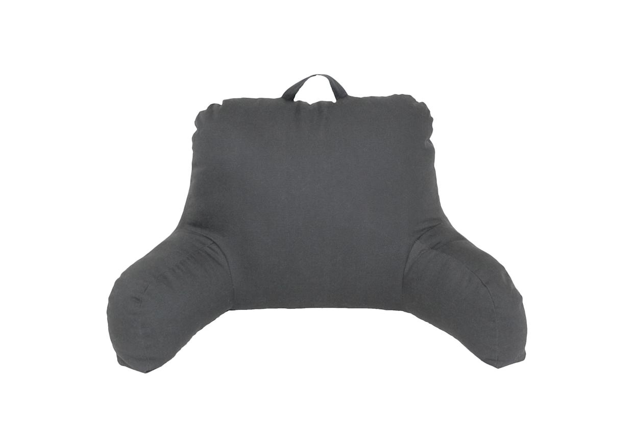"""""""My favorite item is a chair pillow for my bed. For $15 at Target I can easily buy something that helps me stay awake while studying in bed. It's a must-have for my dorm!"""" - Imani Brooks, Emory University. <a href=""""https://www.target.com/p/grey-bedrest-support-pillow-room-essentials-153/-/A-14328157#lnk=sametab"""" rel=""""nofollow noopener"""" target=""""_blank"""" data-ylk=""""slk:Shop it here."""" class=""""link rapid-noclick-resp"""">Shop it here.</a>"""