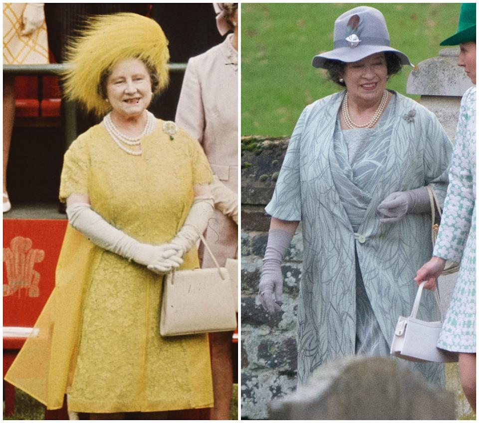 <p>It's the first time Marion Bailey has been photographed in character as the Queen Mother. Photo: Media Mode </p>