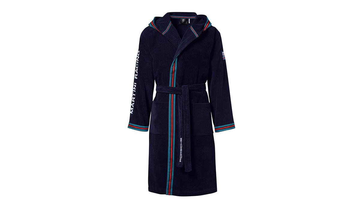 This dressing gown features the iconic Martini livery