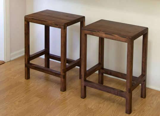 <p&gtWith plenty of table-saw work, a trio of 8-foot-long 2x4s can be trimmed down and transformed into a pair of slender-legged bar <a href=