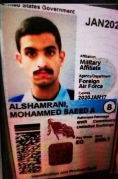 PHOTO: The ID card of the Pensacola shooter (ABC News)