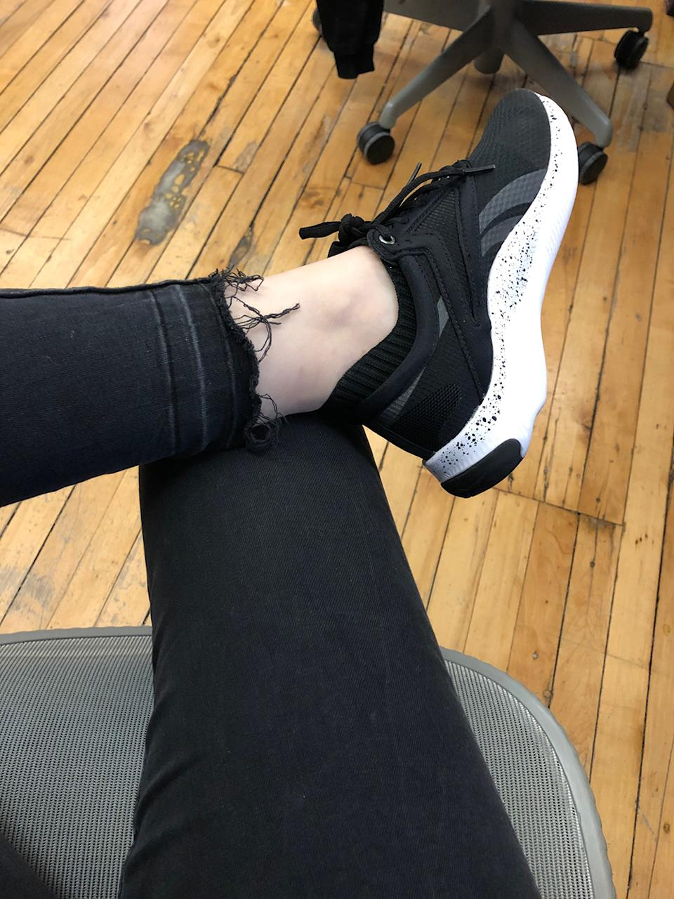 Zara jeans and Reebok? A match made in heaven.