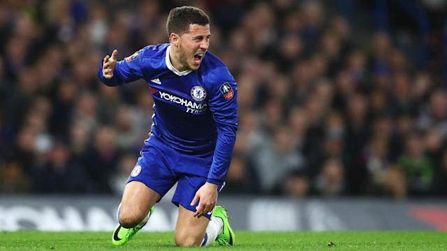 While Real Madrid are reportedly interested in signing the Belgian, the Chelsea man insists he is happy in the English capital