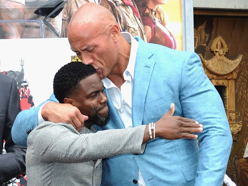 Kevin Hart and Dwayne Johnson in 2019.