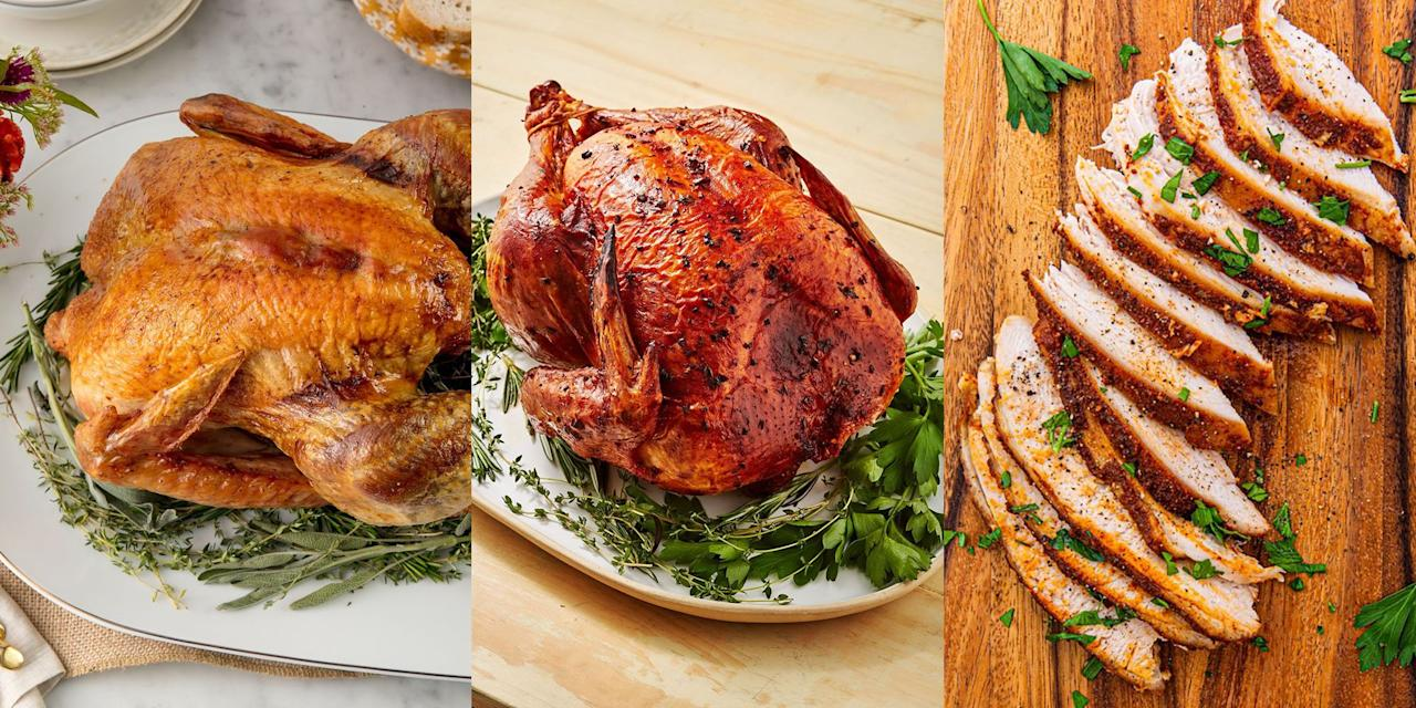 """<p>We get it, there's a lot of pressure when it comes to cooking the <a href=""""https://www.delish.com/uk/cooking/recipes/a29557866/best-oven-roast-turkey-recipe/"""" target=""""_blank"""">turkey</a>, and rightly so! It's basically what everyone looks forward to the most (unless you're <a href=""""https://www.delish.com/uk/cooking/recipes/g29695357/vegetarian-christmas-recipes/"""" target=""""_blank"""">veggie</a>). With that in mind, we've rounded up our favourite Christmas Turkey Recipes with everything from <a href=""""https://www.delish.com/uk/cooking/recipes/a29557866/best-oven-roast-turkey-recipe/"""" target=""""_blank"""">Classic Oven Roasted Turkey</a>, to <a href=""""http://www.delish.com/uk/cooking/recipes/a29708864/how-to-dry-brine-turkey-recipe/"""" target=""""_blank"""">Dry Brine Turkey</a> (and even <a href=""""https://www.delish.com/uk/cooking/recipes/a34367330/crockpot-turkey-breast-recipe/"""" target=""""_blank"""">Slow Cooker Turkey Breast</a>).</p>"""