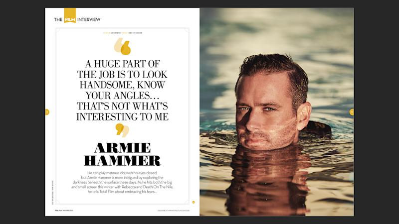 Total Film's Armie Hammer feature.
