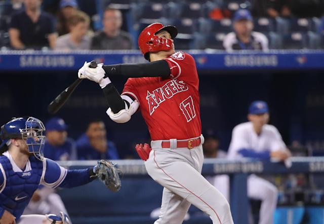 As long as he's asked and he's medically cleared, Shohei Ohtani wants to compete in the Home Run Derby. (Photo by Tom Szczerbowski/Getty Images)