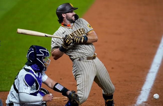 France drives in 4 as Padres rally past Rockies