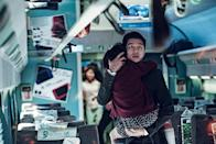 """<p><strong>Train to Busan</strong> has none of <strong>A Quiet Place</strong>'s deliberate pacing, but this action-packed film about zombies on a train is yet another scary movie about the lengths a dad will go in order to protect his child. This time around, the focus is on a father (Gong Yoo) who is trying to build a relationship with his estranged daughter while also fighting off a horde of the undead. </p> <p><a href=""""https://www.hulu.com/watch/66244938-e0cc-44a6-87cd-0d7468302c89"""" class=""""link rapid-noclick-resp"""" rel=""""nofollow noopener"""" target=""""_blank"""" data-ylk=""""slk:Watch Train to Busan on Hulu."""">Watch <strong>Train to Busan</strong> on Hulu.</a></p>"""