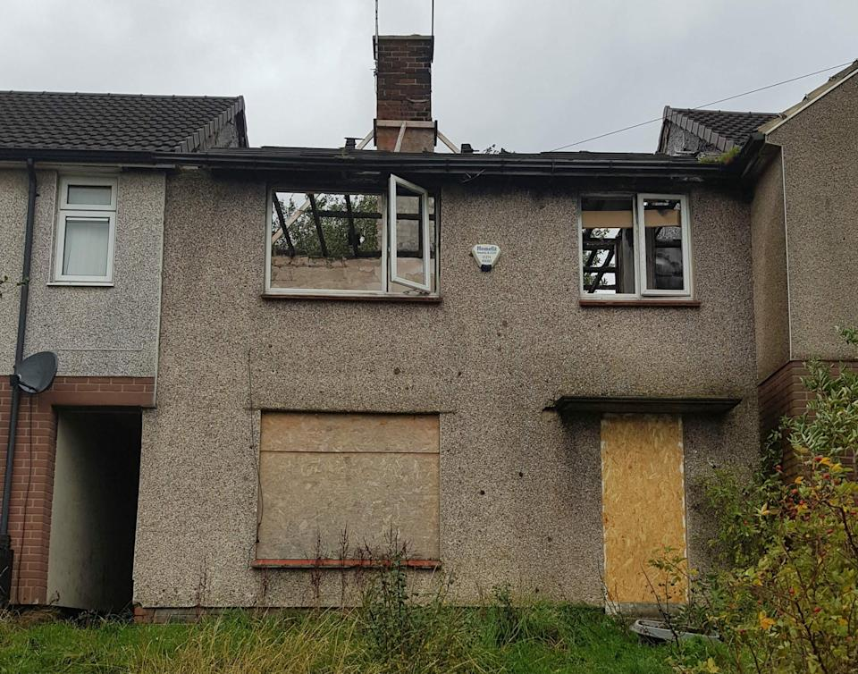 A Bradford house gutted by fire is on sale for £1. Photo: Property Saviour