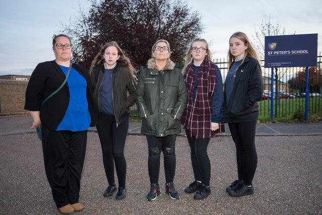 """A mother has shared her anger that girls at a secondary school are being told to stop wearing """"tight"""" black trousers because they are reportedly """"distracting teachers""""."""