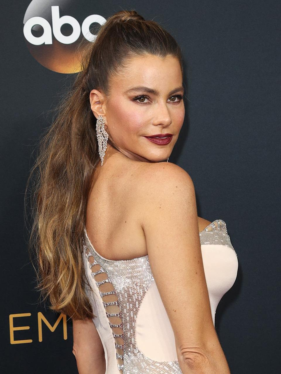<p><b>Sofia Vergara</b></p><p>The <i>Modern Family</i> star is one woman who can make that <i>I Dream of Jeannie</i> look work for any occasion. (Photo: Rex Features)<br></p>
