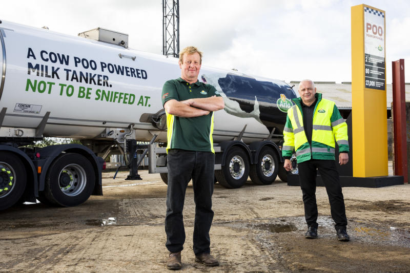 Manure from 500 cows – that's around 190 tonnes of slurry each week – to create a staggering 27,000 litres of biofuel to power the milk delivery trucks in a groundbreaking new trial.