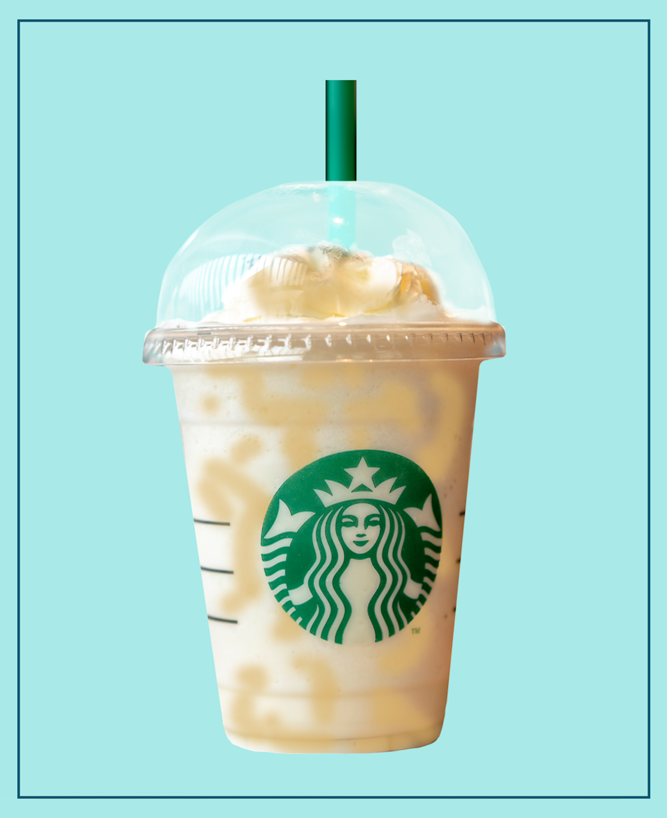 """<p>Calling all Harry Potter fans! We've just found your latest coffee craving – a Butterbeer Frap! It's crammed with caramel and toffee nut flavours for the ultimate afternoon pick-me-up. </p><p>Not to mention, it really does look the part.</p><p>Grab yourself a <a href=""""https://www.etsy.com/uk/listing/935194743/etched-beer-mug-wine-glass-harry-potter?ga_order=most_relevant&ga_search_type=all&ga_view_type=gallery&ga_search_query=butterbeer+glass&ref=sc_gallery-1-1&from_market_listing_grid_ad=1&plkey=e5c1f2cd36a61eb11830f312f5f32e474de9f09b%3A935194743"""" rel=""""nofollow noopener"""" target=""""_blank"""" data-ylk=""""slk:Butterbeer mug"""" class=""""link rapid-noclick-resp"""">Butterbeer mug</a> for the full experience. </p><p><strong>What should I ask for? </strong>Cream Based Toffeenut Frappuccino with Caramel Syrup and Caramel Drizzle in the cup.</p>"""