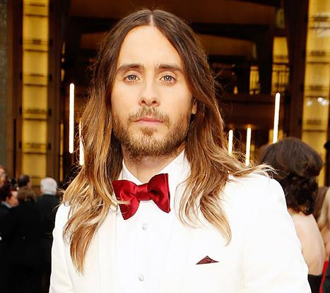 Jared Leto Wears His Hair Down, Ditches His Man Bun at 2014 Oscars: Picture