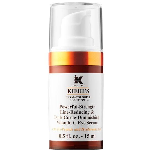"<p><strong>Item: </strong><span>Kiehl's Since 1851 Powerful-Strength Dark Circle Reducing Vitamin C Eye Serum</span> ($50) </p> <p><strong>What our editor said:</strong> ""When I'm not wearing makeup on my face (#work-from-home life), I've been relying on this serum to make me look more awake (and hide the embarrassing amount of time I spent binge-watching TV the night before). However, for those days when I do need to apply makeup on top of it, I'm happy to report that the eye serum absorbs quickly and leaves behind no traces of greasy residue. Its consistency is similar to that of a good blurring makeup primer and, if I'm being completely honest, I've thought about putting it on my entire face more than once. Don't judge - try it for yourself and you'll see what I mean."" - Jessica Harrington, associate editor, Beauty</p> <p>If you want to read more, here is <a href=""https://www.popsugar.com/beauty/kiehls-dark-circle-vitamin-c-eye-serum-review-47336397"" class=""link rapid-noclick-resp"" rel=""nofollow noopener"" target=""_blank"" data-ylk=""slk:the complete review"">the complete review</a>.</p>"