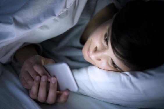 Going on social media before you go to bed can negatively affect the quality of your sleep (Getty Images)