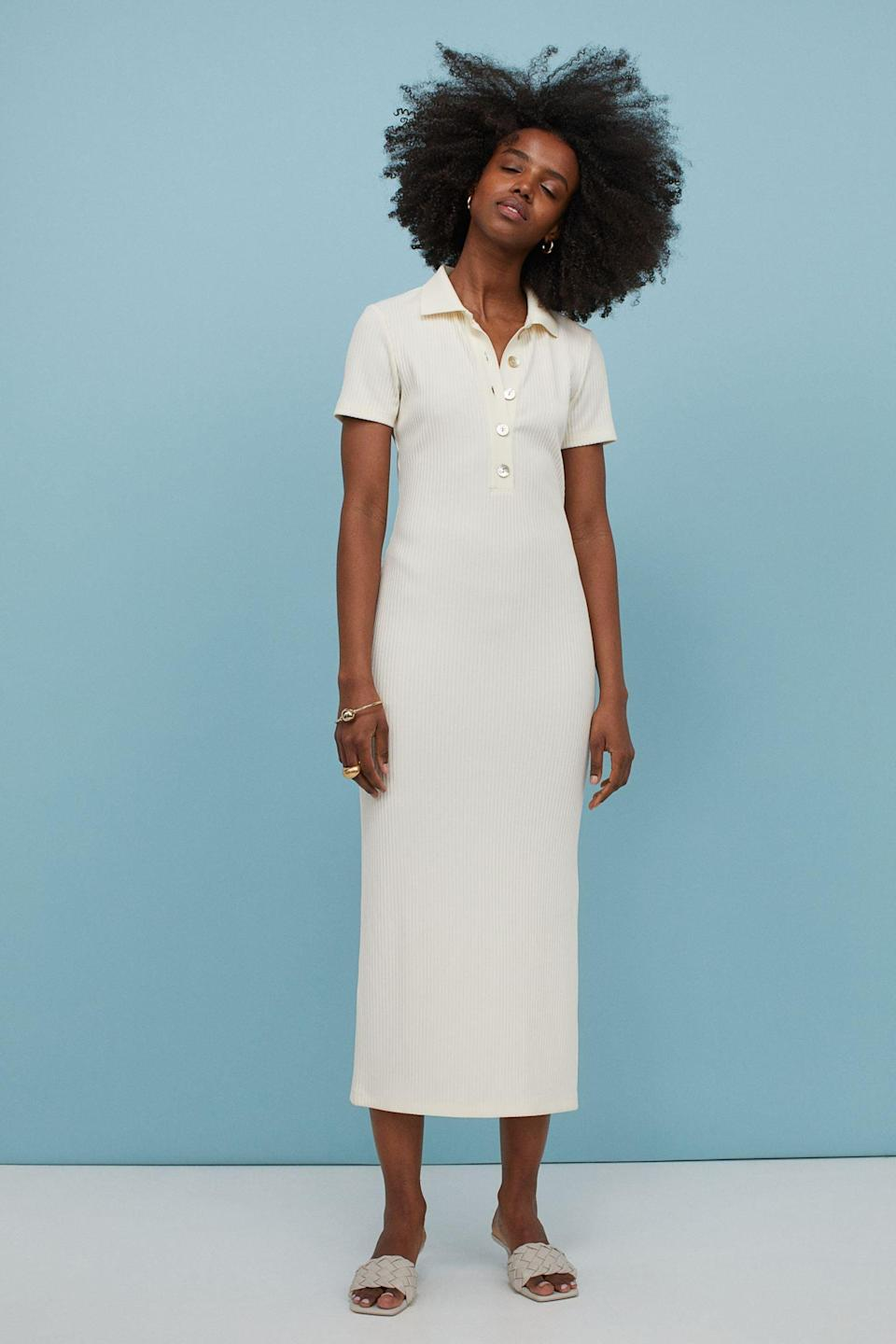 <p>This <span>H&amp;M Collared Ribbed Dress</span> ($42, originally $50) blends style and comfort very well. It looks modern, polished, and extremely wearable.</p>