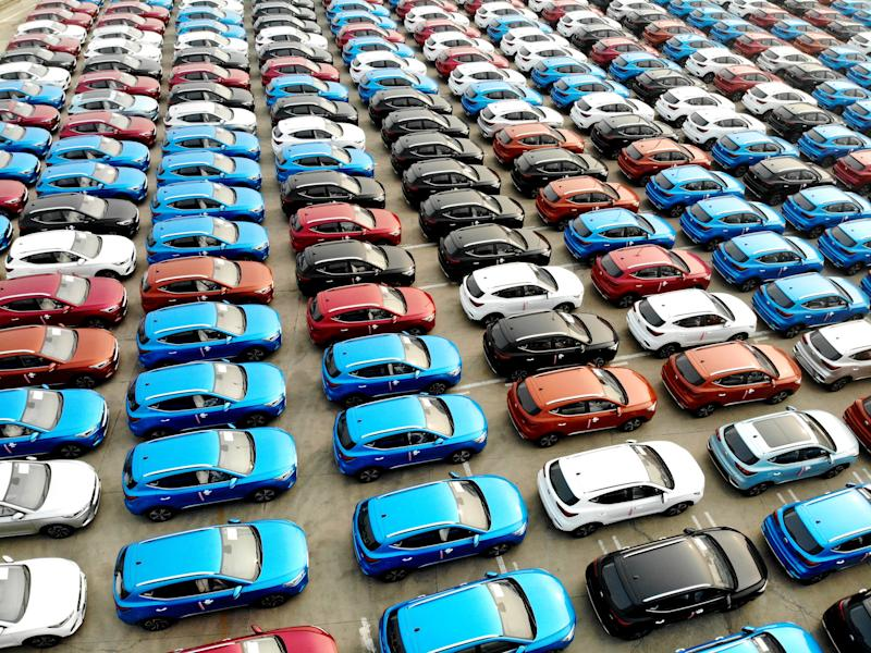 LIANYUNGANG, CHINA - JUNE 15, 2020 - A large number of vehicles are assembled at the wharf waiting for shipment. Lianyungang, Jiangsu Province, China, June 15, 2020. According to the data released by the National Bureau of statistics, the added value of industries above designated size increased by 4.4\% year on year in May. (Photo by Wang Chun / Costfoto/Sipa USA)