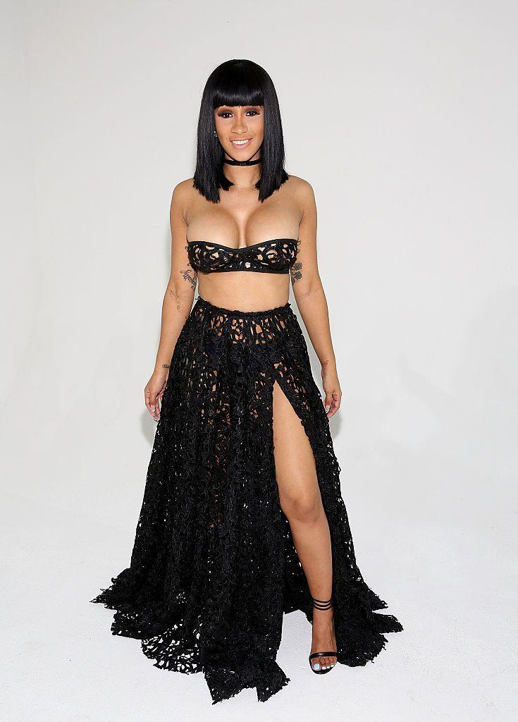 <p>The reality TV star wore Laquan Smith's designs to the New York Fashion Week presentation. </p>