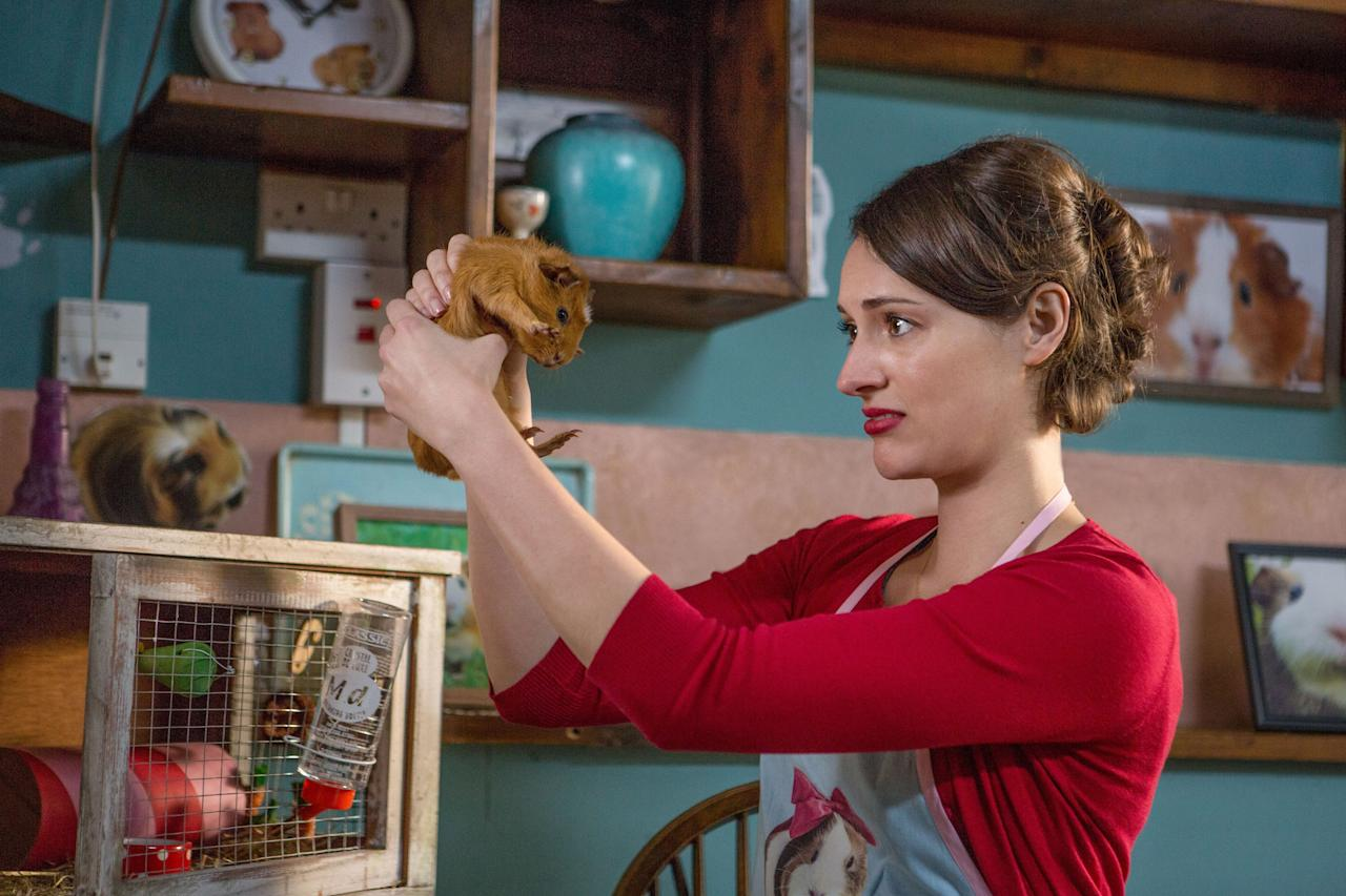 """Phoebe Waller-Bridge created <em>Fleabag</em> as a one-woman show, eventually adapting it into two perfect (albeit short) seasons of television. Do yourself a favor and watch them both, immediately. <em>Available to watch on</em> <a href=""""https://www.amazon.com/gp/video/detail/B07RN9XHKP?creativeASIN=B07RN9XHKP&linkCode=w50&tag=glamour0d7-20&imprToken=r-vjQvPwET8itLp8fi6RsQ&slotNum=1"""" rel=""""nofollow"""" target=""""_blank""""><em>Amazon Prime Video</em></a>"""