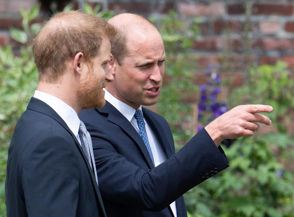 <p>The royal siblings share a moment together on palace grounds. </p>