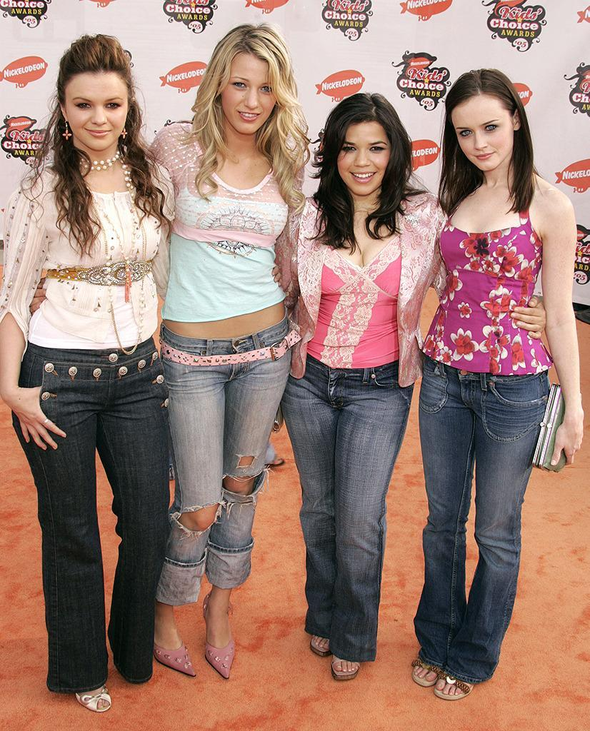 <p>Lively got her big break in the popular coming-of-age film <i>Sisterhood of the Traveling Pants</i>. She promotes the movie by appearing at the Kids Choice Awards with co-stars Amber Tamblyn, America Ferrera, and Alexis Bledel on April 2, 2005, a month before <i>Sisterhood</i>'s release. <i>(Photo: Jeffrey Mayer/WireImage)</i></p>