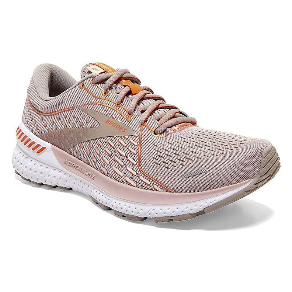 """<p><strong>Brooks</strong></p><p>amazon.com</p><p><strong>$125.84</strong></p><p><a href=""""https://www.amazon.com/dp/B086T62G3X?tag=syn-yahoo-20&ascsubtag=%5Bartid%7C2141.g.23308279%5Bsrc%7Cyahoo-us"""" rel=""""nofollow noopener"""" target=""""_blank"""" data-ylk=""""slk:Shop Now"""" class=""""link rapid-noclick-resp"""">Shop Now</a></p><p>If your mom needed new sneakers yesterday, these will be her absolute favorites. As the newest Brooks sneakers in the Adrenaline GTS collection, these feature a layered cushioned midsole, built-in stability, and support for proper running alignment to give her the best shoes in the neighborhood. </p>"""