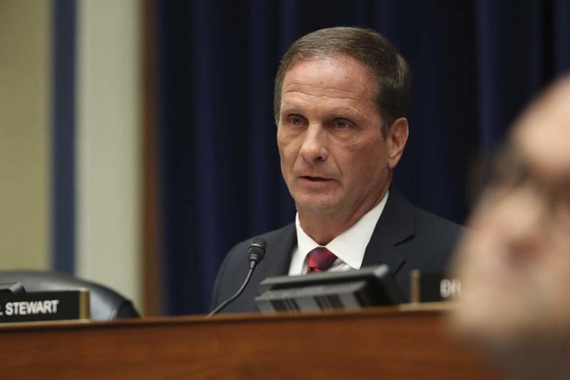 Rep. Chris Stewart, R-Utah, questions Acting Director of National Intelligence Joseph Maguire as he testifies before the House Intelligence Committee on Capitol Hill in Washington, Thursday, Sept. 26, 2019. (AP Photo/Andrew Harnik)