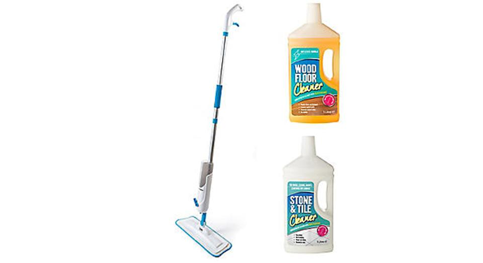 Lakeland Dual Spray Mop and 2 Floor Cleaners