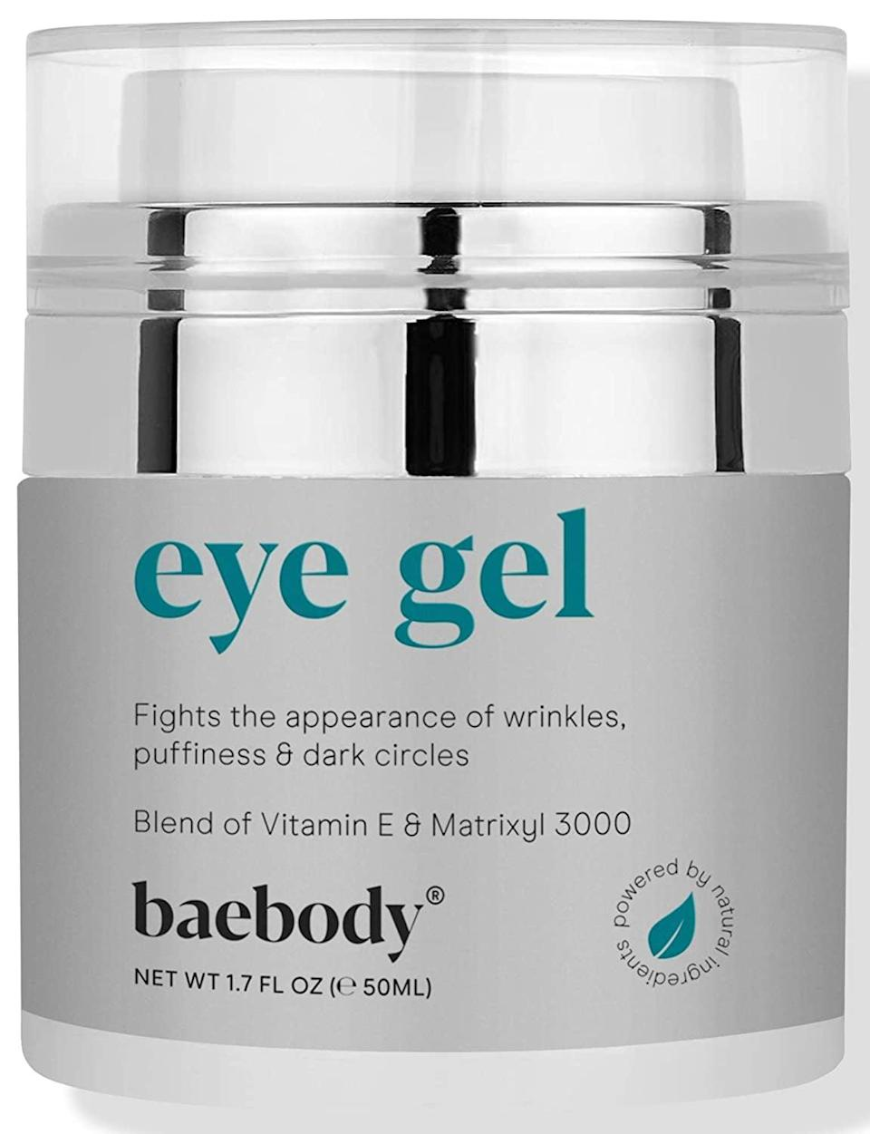 <p>The refreshing <span>Baebody Eye Gel</span> ($24, originally $40) has hyaluronic acid, which hydrates and plumps skin; Matrixyl 3000, which firms skin; and plant stem cells to strengthen and protect against damage.</p>