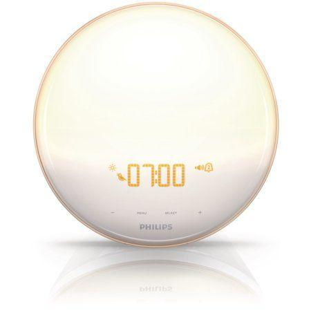 """<p><strong>Best For: Sound & Light Wakeup Combo</strong><br>Philips' alarm clock combines a choice of five natural sounds or FM radio and 20 different brightness settings on soft, UV-free light with up to 300-lux illuminance — creating what reviewers describe as an entirely gentle wake-up experience.</p><br><br><strong>Philips</strong> Wake-Up Light Alarm Clock, $104.99, available at <a href=""""https://www.walmart.com/ip/Philips-Wake-Up-Light-Alarm-Clock-with-Colored-Sunrise-Simulation-and-Sunset-Fading-Night-Light-White-HF3520-60/43924335"""" rel=""""nofollow noopener"""" target=""""_blank"""" data-ylk=""""slk:Walmart"""" class=""""link rapid-noclick-resp"""">Walmart</a>"""