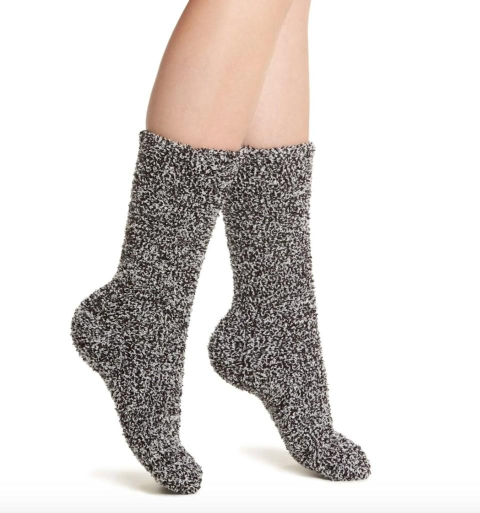 <p>Fall isn't <em>all</em> cute outfits; it's important that you're staying cozy, too. Barefoot Dreams might be known for its ultrapopular blankets, but these <span>Barefoot Dreams CozyChic Socks</span> ($15) will make you feel like you're walking on cloud nine.</p>