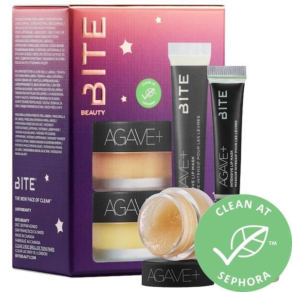 <p>The <span>Bite Beauty Mini Starlit Succulents 3-piece Agave + Lip Care Set</span> ($11, originally $29) will hydrate and exfoliate lips all winter long.</p>