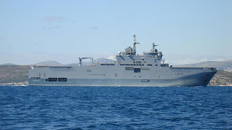 French defence minister visits Beirut to inspect military aid ship 'Thunder'