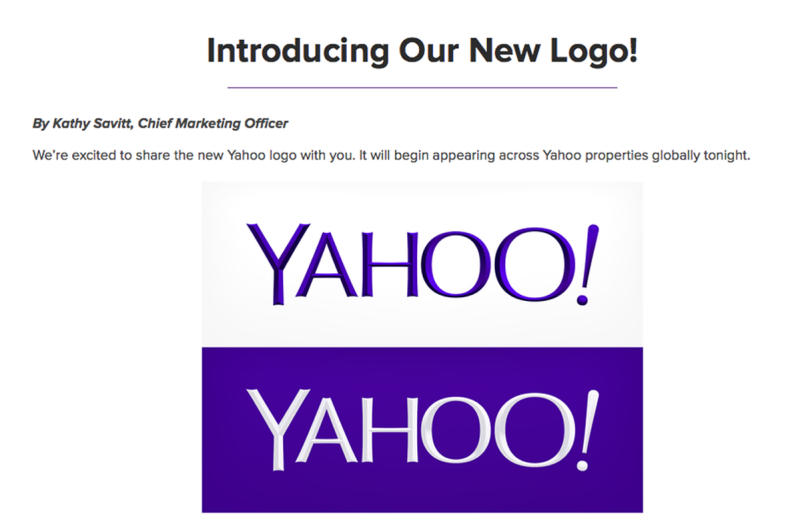 Yahoo unveils new logo in turnaround makeover