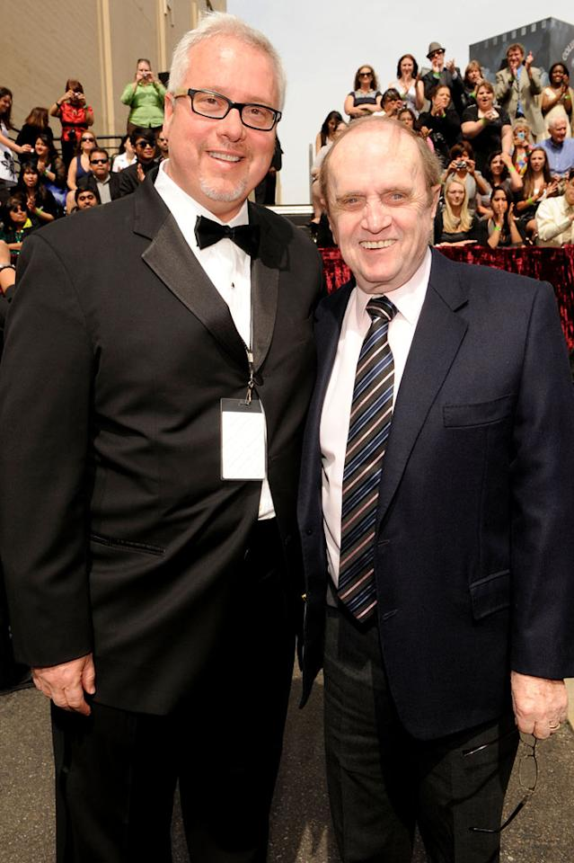 "President of TV Land Larry Jones and Bob Newhart arrive at the <a href=""/the-8th-annual-tv-land-awards/show/46258"">8th Annual TV Land Awards</a> at Sony Studios on April 17, 2010 in Los Angeles, California. The show is set to air Sunday, 4/25 at 9pm on TV Land."